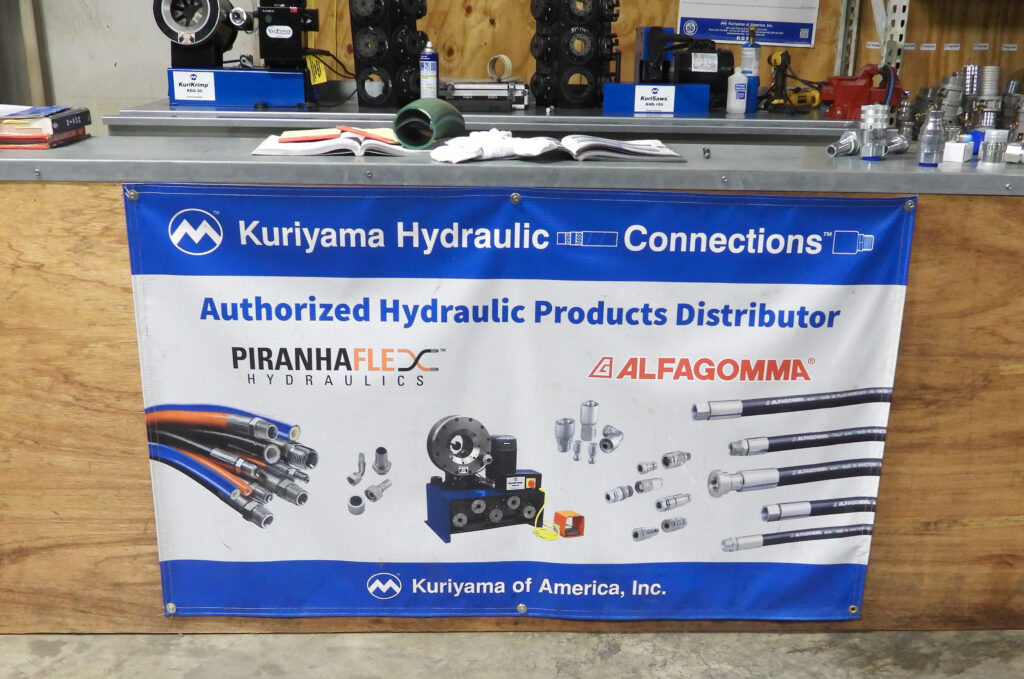 Signage displayed at hydraulic shop in Dothan, AL